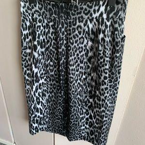 Eli Tahari Leopard Pencil Skirt